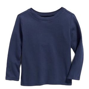 OLD NAVY Long sleeve Tee/Top Navy Blue Boys Age 8Y